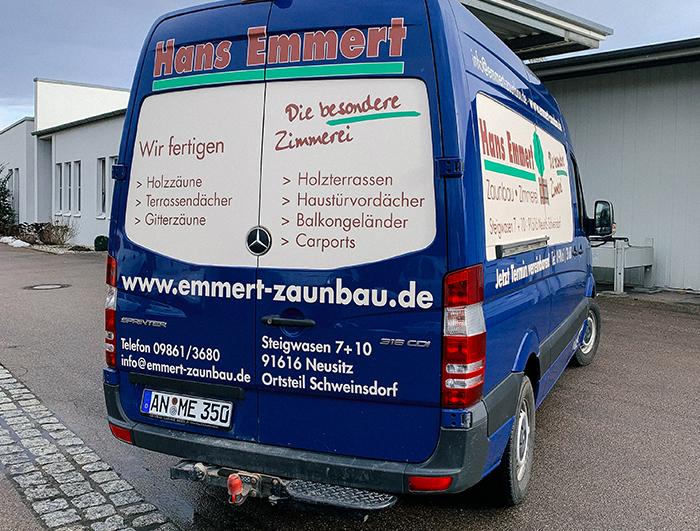 Autofolierung von Hans Emmert - Zimmerei und Zaunbau