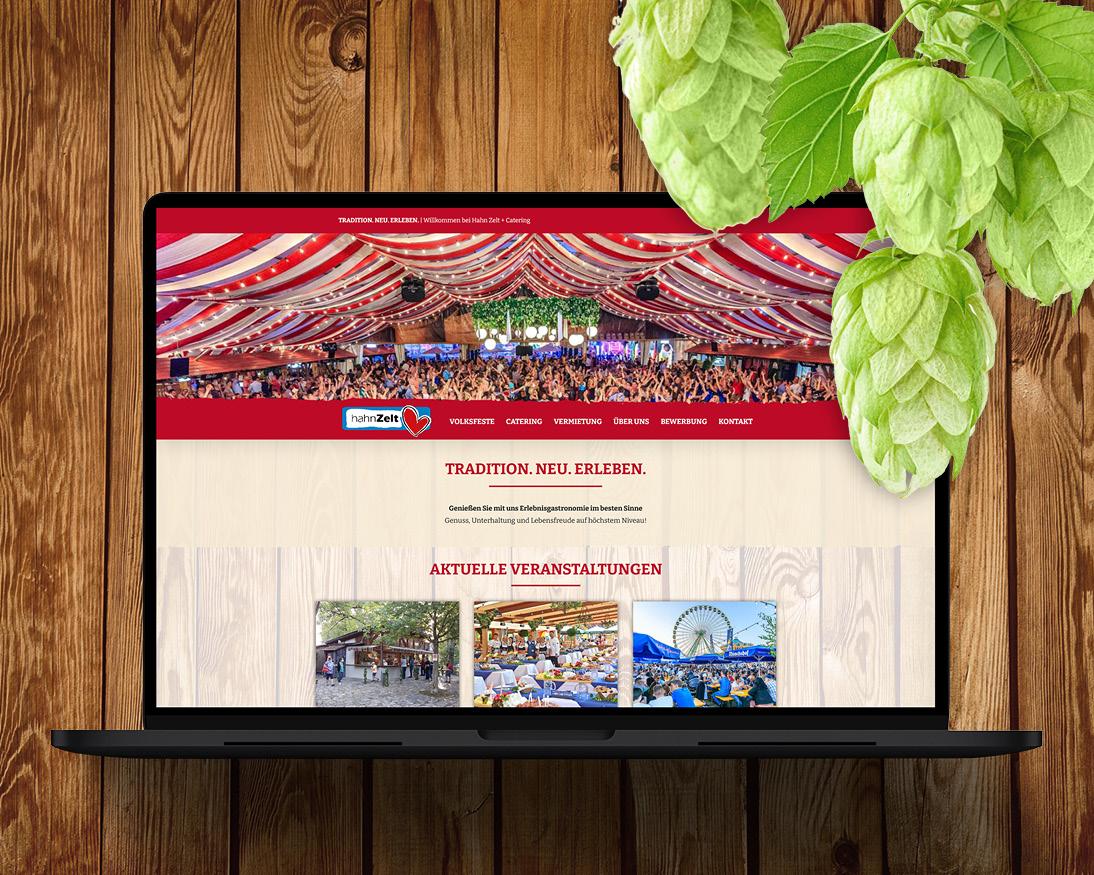 Relaunch der Homepage der Hahn Zelt + Catering GmbH
